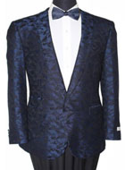 Men's Tazio Slim Fit Shawl Collar Blazer Sport Jacket Blue $139