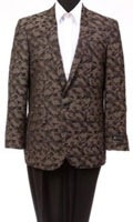 Men's Tazio Abstract Design Slim Fit Fashion Jacket Brown $139