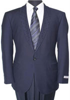 Men's Tazio Dotted Shawl Lapel Slim Fit Fashion Jacket Navy $139