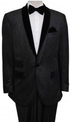 Men's Tazio Retro Cross Weave Slim Fit Dinner Jacket Black $139