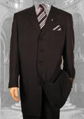 "Mens Solid Simple Liquid Black Fashion Dress 38"" Long Jacket ALL SEASON Zoot Suit $139"