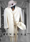 Bright Off White~Ivory~Cream Fashion Longer Jacket 3 Button With Mens Vested Suit