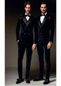 SKU#SS-741 Mens Velvet Velour ~ Suit or Blazer or Jacket + Pants Tuxedo Looking Single or Double breasted 7 days delivery