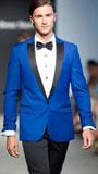 SKU#RT1456 Mens Slim Royal Blue Peak Lapel Tuxedo Jacket / Blazer Mens / Tux / Dinner Jacket Looking
