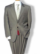 SKU#RM1511 Mens Mantoni Mordern Fit 2 Button Single Breasted Jacket Suit Taupe