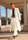 Men's Very Long Fashion Off White Zoot Suit $185