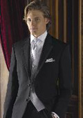 Felinion Exclusive Satin trimmed lapel Edge~Side Lapel 2 Button Notch Lapel Only $155