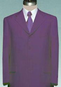 Single Breasted PURPLE 3 Button SUITS