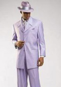 Beautiful Mens Lavender Fashion Dress With Nice Cut Smooth Soft Fabric Pastel Color 3 Button Style Jacket Plus Pants $139