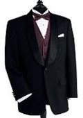 Black Dinner Jacket 100% Poly 1 Button Shawl Collar $149