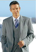 exclusive High Quality Clowdy Mid Gray 2 Button Vested 100% Wool Mens Suits Notch lapel Vent $169