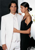 SKU#MI227 Fitted Slim Fitc Cut Mirage Tuxedo Satin Mandarin Collar (White) No Buttons
