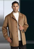 Wool&Cashmere Single Breasted 3 Button Notch Lapel Camel ~ Khaki Color Suit $250