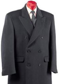 Rafael Fully Lined Double Breasted Men's Wool Blend Long Overcoat ~ Topcoat Full Length $199