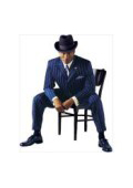 SKU ZTV139 Mens Vested Navy Blue Pinstripe Fashion Dress Zoot Suit   139