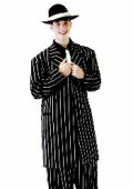 SKU ZT139 Mens Black or Brown Ton on Ton Stripe Fashion Dress Zoot Suit 149