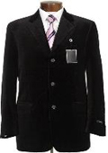 New mens Two button style jacket velour blazer/Jacket~Sport Coat Black SUEDE Casual $149