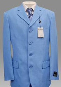 Beautiful Mens Light Blue ~ Sky Blue Pastel Color 3 Button Style Jacket Plus Pants Dress With Nice Cut Smooth Soft Fabric $139