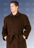 SKU#Florence 48†Four Button Single Breasted Coat With An 18 Inch Center Vent, Fly Front $199