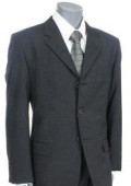SKU ZITK3 Charcoal Gray Italian Supe 150 Wool 3 Button Mens Suit 199