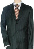 Lightweight Worsted Wool Small Black 'Travelor' Small Mini Pinstripe $275