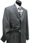 Light Gray Super 120 Wool 3 Buttons Mens Suits