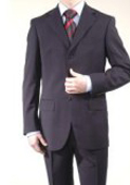 SKU Z726 Navy Blue 3 Buttons Mens Super 140s Wool Suits 139 Compare at 799