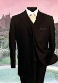 BLACK PINSTRIPE three piece suit $169