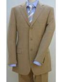 SKU#BTLI_03 Bronz/Gold/Tan ~ Beige Color 3 buttons Men's 3 buttons premier quality italian fabric Suits