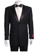 Black 2 Button Wool Tuxedo without pleat flat front Pants $149