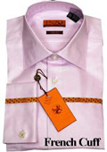 Mens Shirt Lavender Twill French Cuff 61102-4 $55