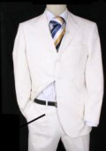 Highest Quality 3 Button White suit + vest $165