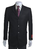 Jacket/Blazer 3 Button Vented in Black Basketweave $139