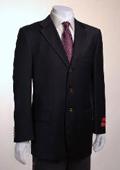 SKU#PJ522 Jacket/Blazer 3 Button Vented Solid Black Wool $179