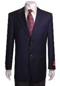 SKU#KJ433 Men's 2-Button Navy Blue WoolJacket/Blazer $179