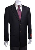 SKU#YT441 Men's 2-Button Black Wool Jacket/Blazer (Men +Women) $179
