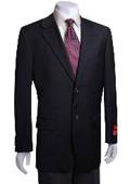 SKU#YT441 Men's 2-Button Black Wool Jacket/Blazer (Men +Women) $179