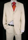 Mens Ivory/Off White 2 Or 3 Button Suit Light Weight Pleated Pants $139
