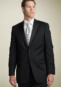 2 BUTTON EXTRA FINE HAND MADE TUXEDO 100% WOOL WITH NOTCH LAPLE $149