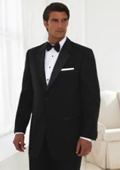 MENS 2 BUTTON TUXEDO SUPER 150'S WOOL NOTCH LAPLE Jacket + any size pants (Tuxedo Separate) $199