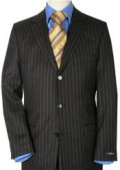 Jet Black Small Pinstripe