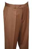 Mens Dress Pants Camel ~ Khaki without pleat flat front $69