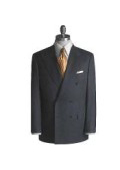 Brand New Charcoal Super Wool Feel PolyRayon Double Breasted Suit $149