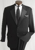 Pleated Pants (Regular Fit Jacket) Buy & Dont pay Tuxedo Rental Men's Two Button Single Breasted Tuxedo $99