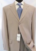 Beige/Tan ~ Beige Business premier quality italian fabric 100% Worsted Wool Higher Quality Men's Suits $175