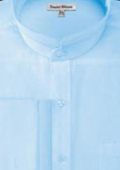 SKU#AD900 Men's French Cuff Banded Collar Shirt