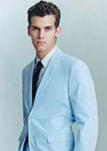 2 Button Light Blue ~ Sky Blue Suit $120