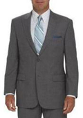 2 Button Peak Lapel Jacket Flat Front Pants Light Silver Gray tapered slim fitted $149