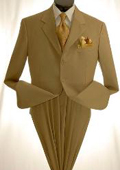 Mens Khaki~Tan ~ Beige Dress lightweight and comfortable cheap discounted Suit $99