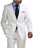 Light Weight 2 Button Tapered cut Half Lined Flat Front Linen Suit Vented